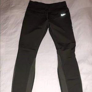 Army green Nike leggings size medium